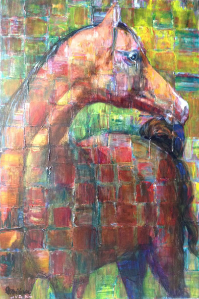 Arabian Horse, Oil on Canvas Painting