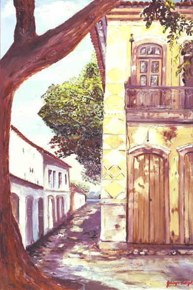 Parati Colonial, Oil on Canvas Painting