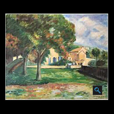 Chestnut Trees and Farm at Jas de Bouffan – Reproduction, Oil Painting