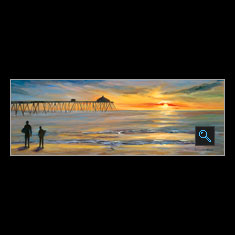 Imperial Beach, Oil on Canvas Painting