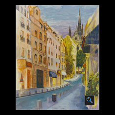 La Baquette Paris, Watercolor Painting