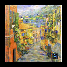 Lago di Como, Oil on Canvas Painting