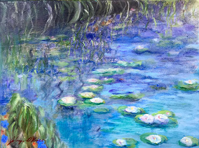 Lilies Oil on Canvas Painting