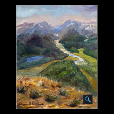 New Zealand, Oil on Canvas Painting