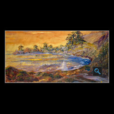 Enchanted Pacific Coast, Oil on  Canvas Painting