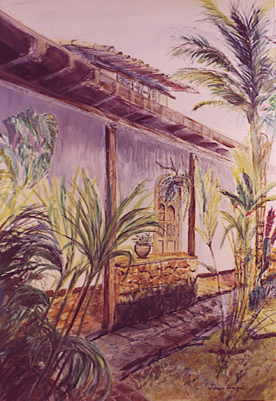 Pousada do Ouro, Watercolor on Paper Painting