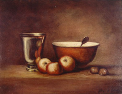 Silver Goblet, Oil on Canvas Painting