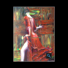 Tango Dancer, Oil on Canvas Painting